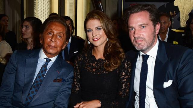 Valentino, Prinzessin Madeleine und Chris O'Neill