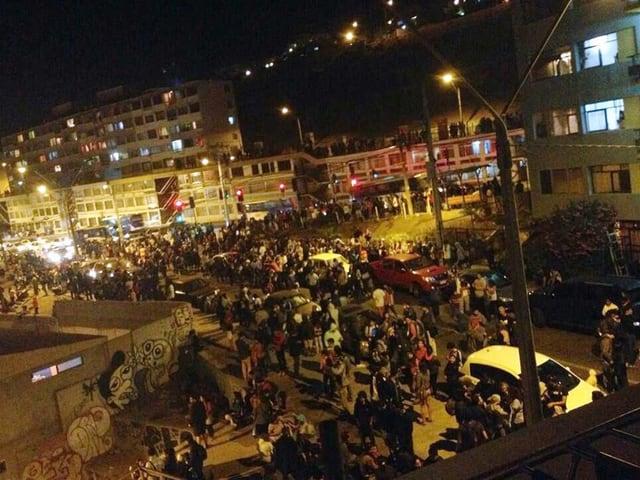 Evakuierung in der Stadt Antofagasta.