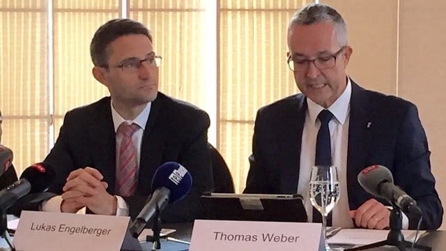 Lukas Engelberger und Thomas Weber