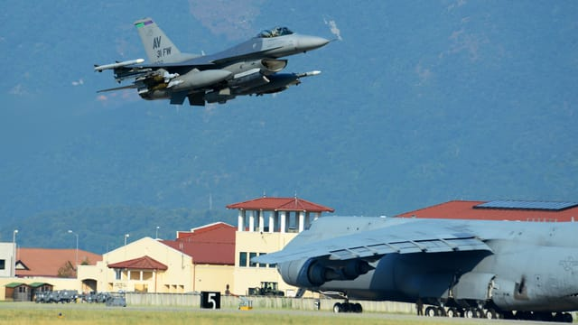 Start von Kampfjet