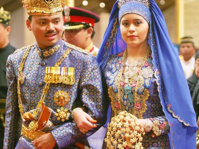 Der Kronprinz von Brunei heiratet die Schweizerin Sarah.