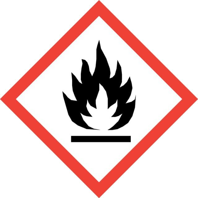 Gefahrenzeichen: Grosse Flamme