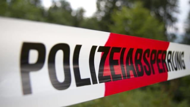 Polizeiabsperrung.