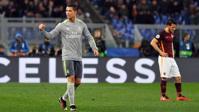 Cristiano Ronaldo ballt die Faust.
