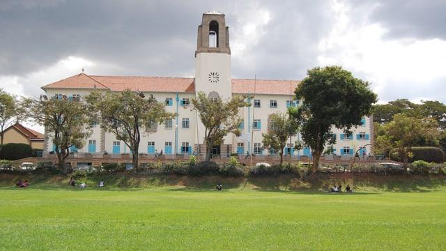 Foto vom Hauptgebäude der Makere Universität in Uganda.