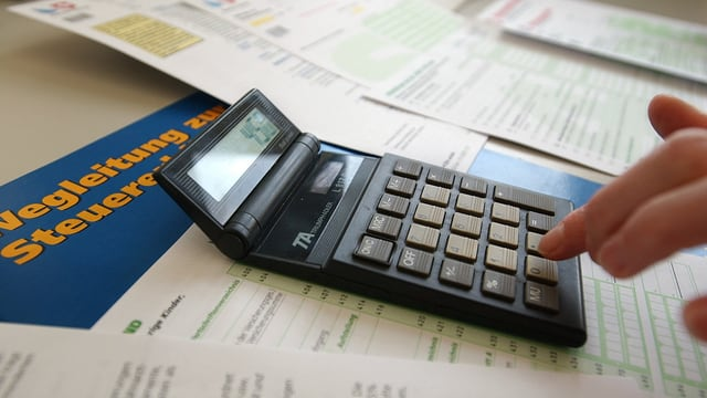 Taschenrechner und Steuererklärung
