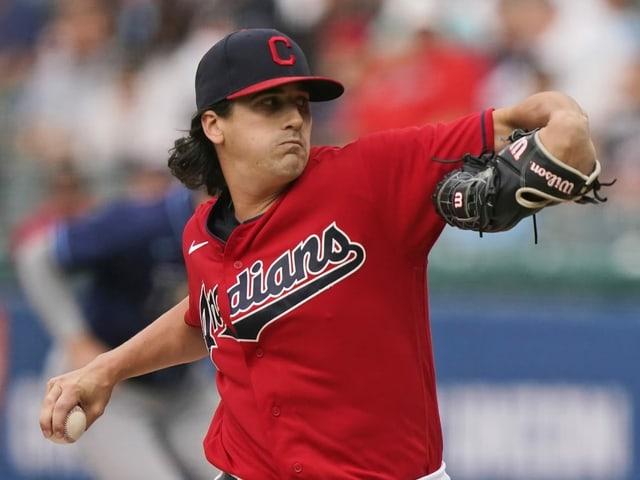 Cleveland-Pitcher Cal Quantrill.