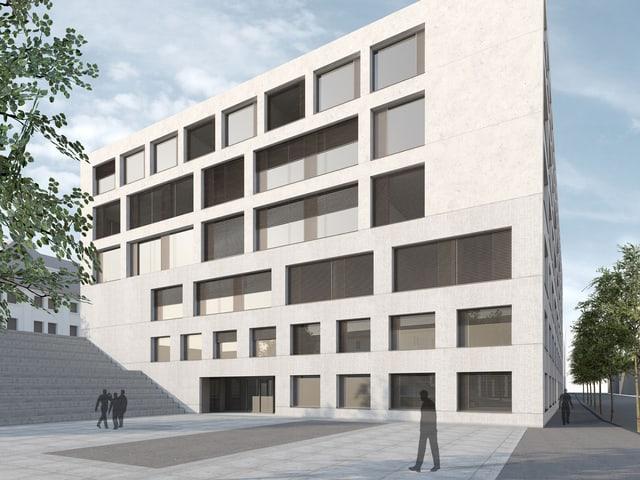 Der Neubau für die Hochschulen als Projektbild