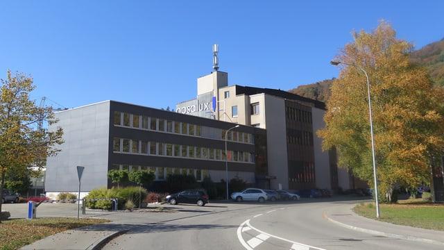Das Firmengebäude von Posalux auf dem Bieler Bözingenfeld