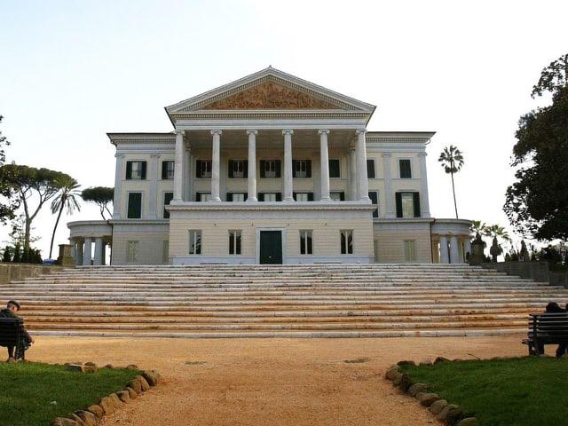 Die ehemalige Villa und Bunker Mussolinis in Rom.