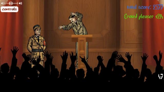 Hitler hält eine Rede.