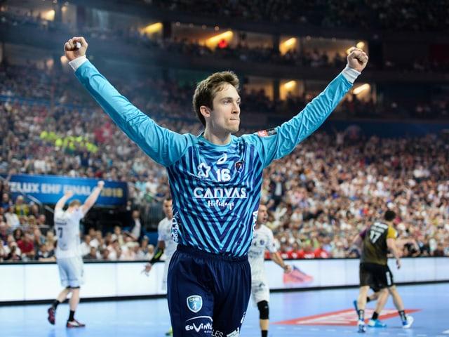 Nikola Portner trug seinen Teil zum CL-Triumph Montpelliers bei.