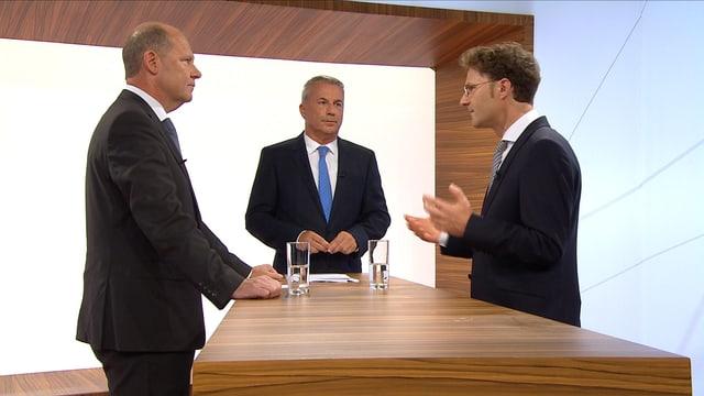 Valentin Vogt, Reto Lipp und Daniel Lampart.