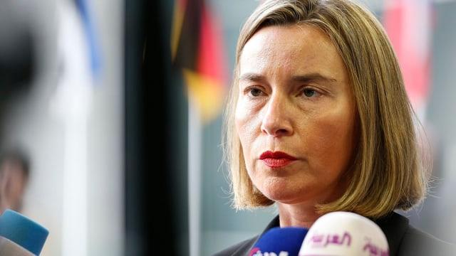 Federica Mogherini, l'incumbensada da l'exteriur da l'UE.