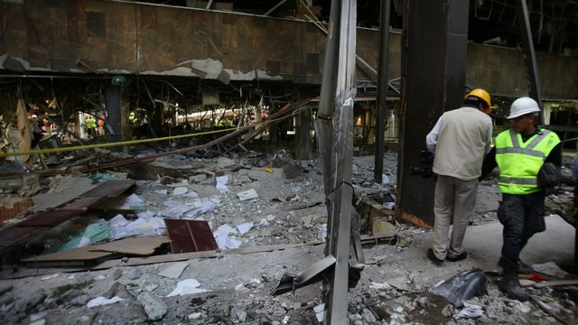 Explosionstrümmer in Mexiko-Stadt
