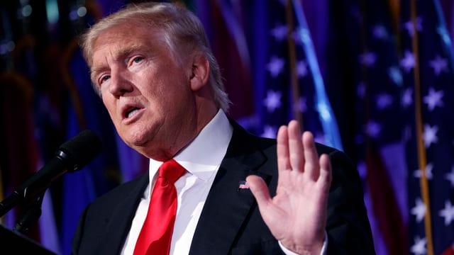 Donald Trump während seiner Rede nach der Wahlnacht.