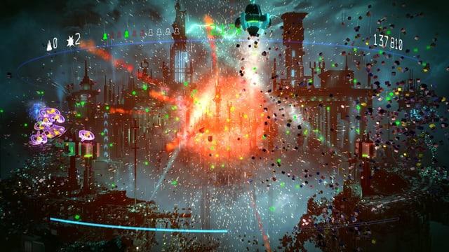 Eine farbenfrohe Explosion.