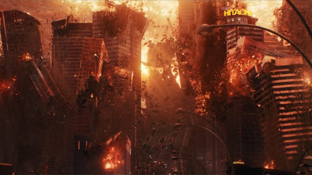 Stadt in Flammen