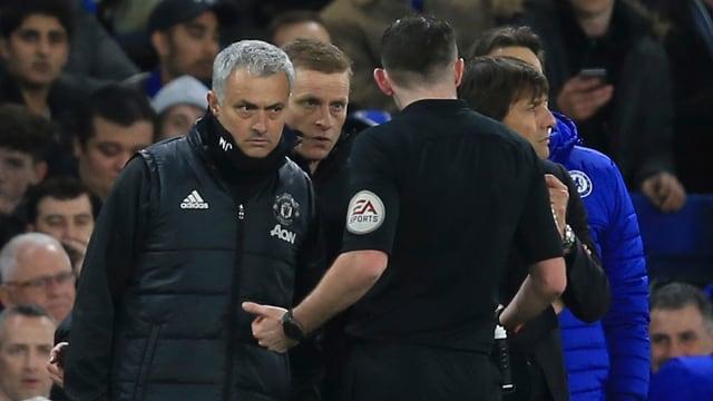 José Mourinho stand mal wieder im Mittelpunkt.