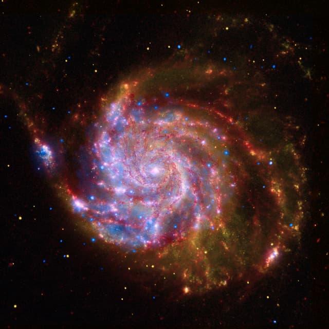 Zusammengesetztes Bild der Spiralgalaxie M 101