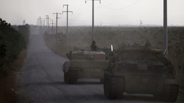 Türkische Panzer in Nordsyrien