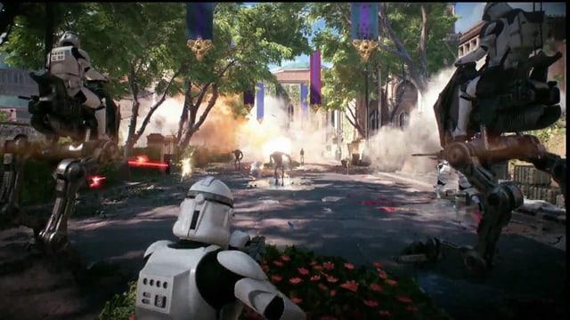 Mit einem Stormtrooper in die Schlacht ziehen - was gibt es besseres?