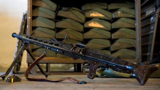 Ein MG3-Automatik-Gewehr, Teil einer deutschen Lieferung an irakische Kurden