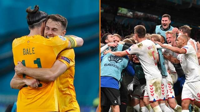 Die individuelle Klasse der Waliser Gareth Bale und Aaron Ramsey oder die verschworene Einheit aus Dänemark.
