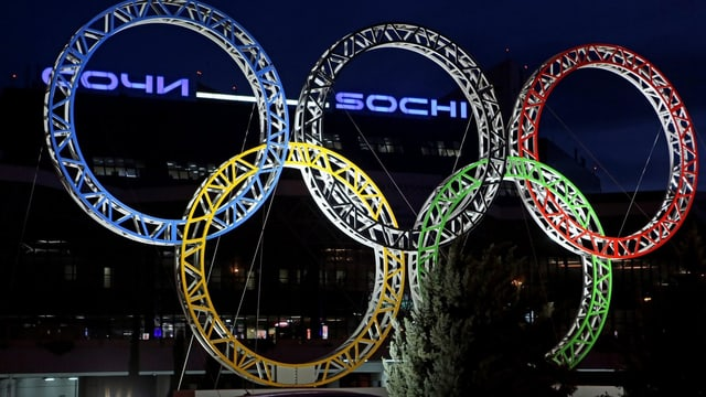 Die Ringe der Olympischen Spiele.