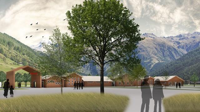 Visualisierung des Erlebnisparks.