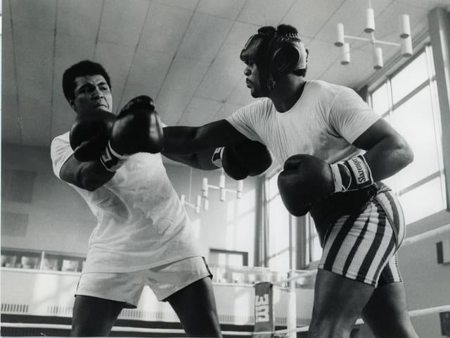 Muhammed Ali beim Sparring-Boxkampf in Zürich 1971.