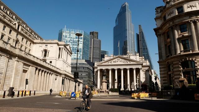 Leere Strassen in London während des Lockdowns.