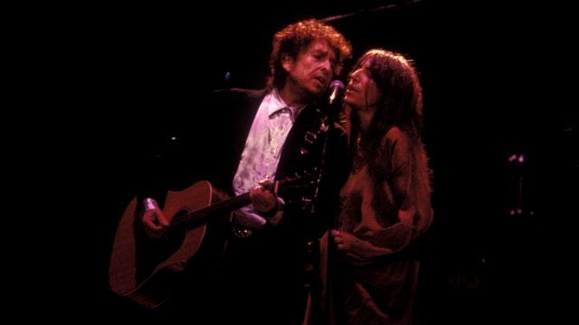 Bob Dylan und Patti Smith gemeinsam auf der Bühne