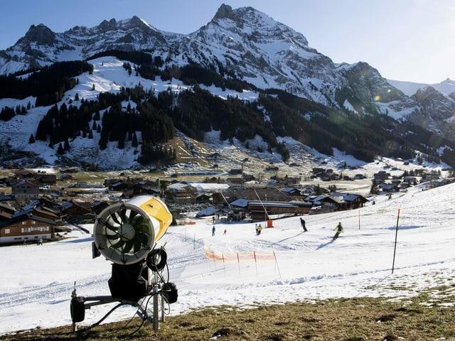Schneekanone in Adelboden