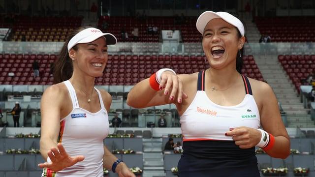 Martina Hingis und Yung-Jan Chan.