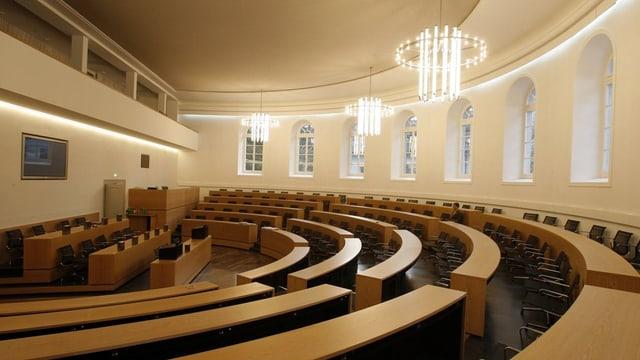 Der leere Grossratssaal in Aarau