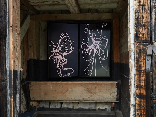 Evelina Cajacob, «BergZeichen», 2017 - Video-Installation.