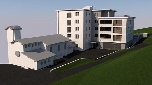 Visualisaziun da la nova Casa sogn Giusep.