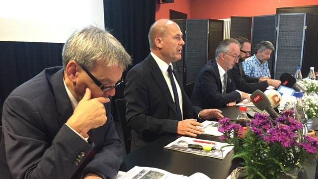 Finanzdirektor Anton Lauber an der Medienkonferenz zur USR 3.