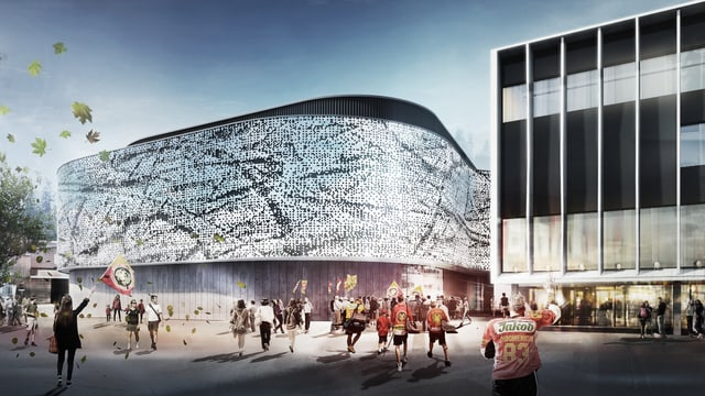 Ein futuristischer Neubau.