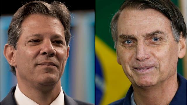 Haddad und Bolsonaro.