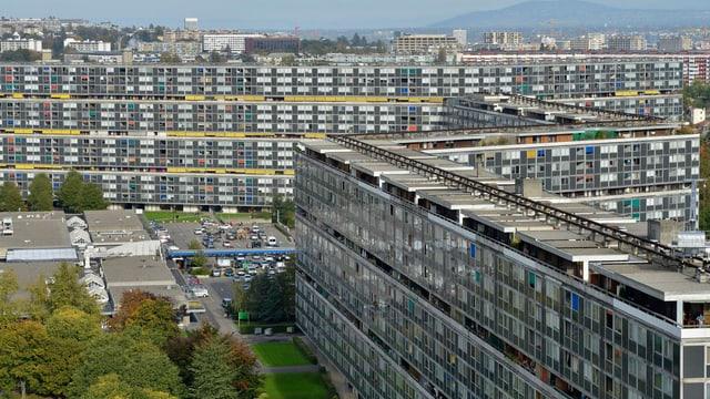 Die Überbauung Le Lignon in Vernier bei Genf.