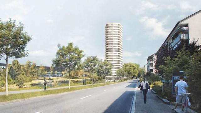Modellbild des neuen Hochhauses