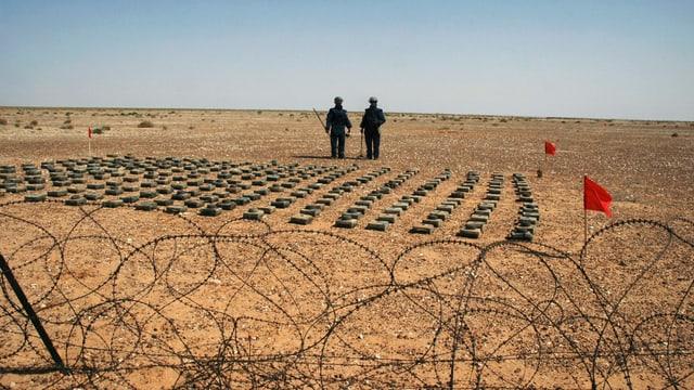 Minenräumer in Libyen.