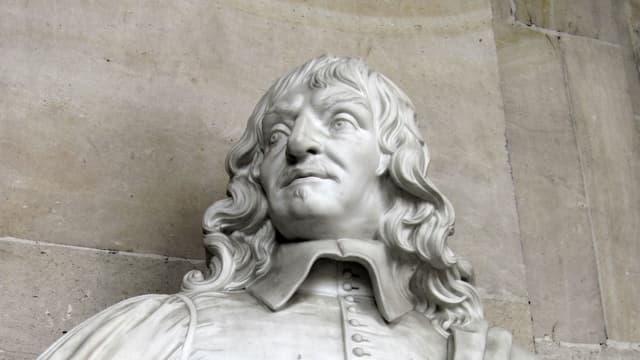 Büste des Philosophen René Descartes.