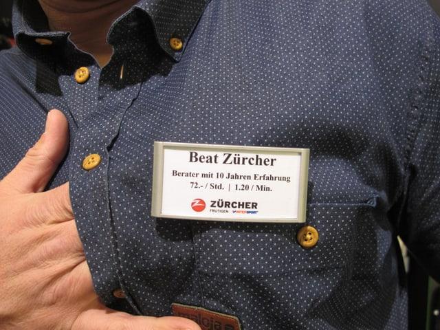 Jeder Verkäufer ist angeschrieben. Eine Beratung bei Firmenchef Beat Zürcher kostet 72 Franken pro Stunde.