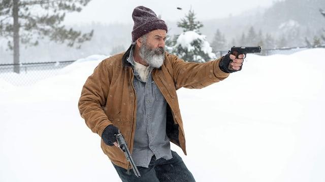 Mel Gibson als schiesswütiger «Fatman» in Aktion.