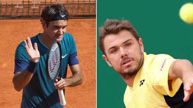 Roger Federer und Stanislas Wawrinka.