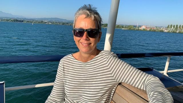 Eine der Grenzgängerinnen ist Tina Löscher. Sie wohnt in Arbon und ist Radio-Journalistin beim SWR in Friedrichshafen.