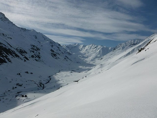 Weisse Bergwelt.